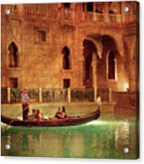 City - Vegas - Venetian - The Gondola's Of Venice Acrylic Print
