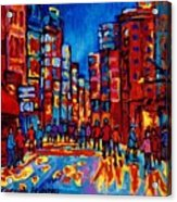 City After The Rain Acrylic Print