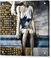City Angel -2 Acrylic Print by Bob Orsillo
