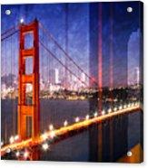 City Art Golden Gate Bridge Composing Acrylic Print by Melanie Viola