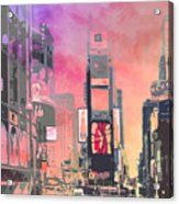 City-art Ny Times Square Acrylic Print