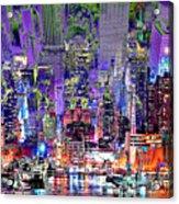 City Art Syncopation Cityscape Acrylic Print