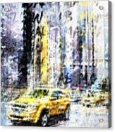 City-art Times Square Streetscene Acrylic Print