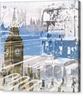 City Art Westminster Collage Acrylic Print