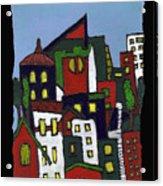 City At Christmas Acrylic Print