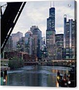 City At The Waterfront, Chicago River Acrylic Print