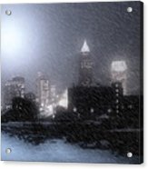 City Bathed In Winter Acrylic Print