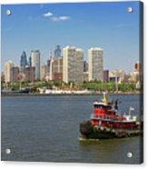 City - Camden Nj - The City Of Philadelphia Acrylic Print