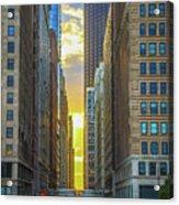 City Canyon Acrylic Print