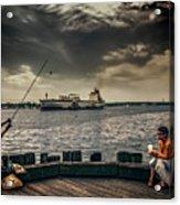 City Fishing Acrylic Print
