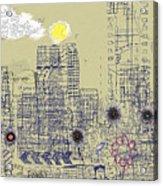 City Garden 4 Acrylic Print