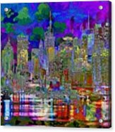 City Garden Art Landscape Acrylic Print