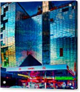 City Gas Station Acrylic Print