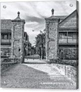 City Gates Black And White 2018 Acrylic Print