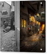 City - Germany - Alley - Coming Home Late 1904 - Side By Side Acrylic Print