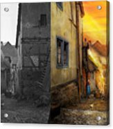 City - Germany - Alley - The Farmers Wife 1904 - Side By Side Acrylic Print