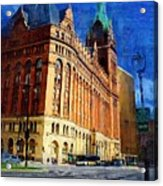 City Hall And Lamp Post Acrylic Print