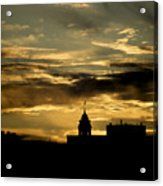 City Hall In Relief Acrylic Print