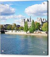 Seine River Embankment Acrylic Print