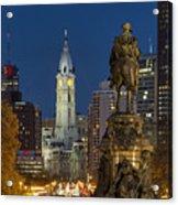 City Hall Philadelphia Acrylic Print by John Greim