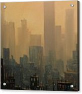 City Haze Acrylic Print by Tom Shropshire