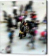 City In Movement Acrylic Print