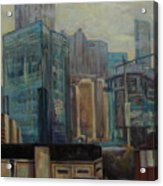 City In The Cityscape Acrylic Print