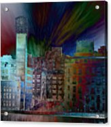 City In Transmission Acrylic Print