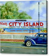 City Island Billboard Acrylic Print by Marguerite Chadwick-Juner