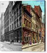 City - Knoxville Tn - Gay Street 1903 - Side By Side Acrylic Print