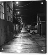 City Lane At Night Acrylic Print