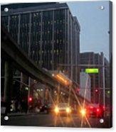 City Life Swarms Acrylic Print