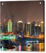 City Lights Of Chongqing Skyline Acrylic Print
