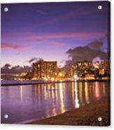 City Lights Reflections Acrylic Print