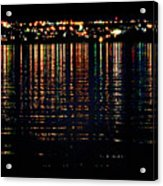 City Lights Upon The Water 1 Acrylic Print