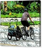 City Man On A Bike Acrylic Print