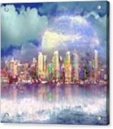 City Moon Acrylic Print
