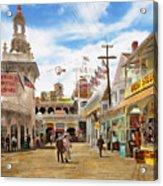 City - Ny - The Great Steeplechase 1903 Acrylic Print