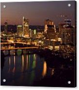 City Of Austin At Dusk Acrylic Print