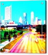 City Of Austin From The Walk Bridge Acrylic Print