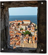 City Of Dubrovnik, The Pearl Of The Mediterranean Sea Acrylic Print