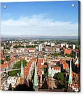 City Of Gdansk Aerial View Acrylic Print