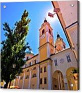 City Of Ljubljana Church And Square View Acrylic Print