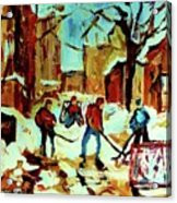 City Of Montreal Hockey Our National Pastime Acrylic Print