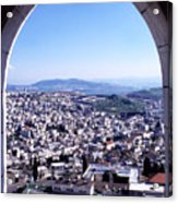 City Of Nazareth From The Saint Gabriel Bell Tower Acrylic Print by Thomas R Fletcher