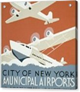 City Of New York Municipal Airports Acrylic Print