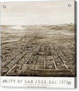 City Of San Jose County Of Santa Clara 1875 Acrylic Print