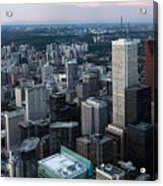 City Of Toronto Downtown Acrylic Print