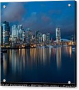 City Of Vancouver British Columbia Canada Acrylic Print