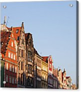 City Of Wroclaw Old Town Skyline At Sunset Acrylic Print